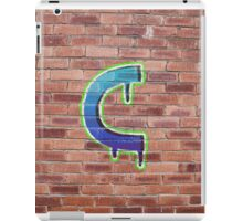 Graffiti Printed Letter C on wall iPad Case/Skin
