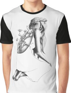 Flower Affliction by Andrea Cain Graphic T-Shirt
