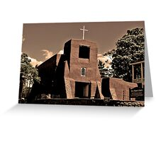 San Miguel Church Greeting Card
