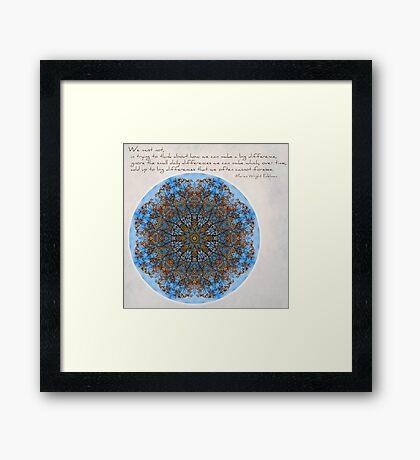 Big & Small Differences: October Window Mandala Framed Print