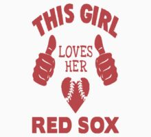 This Girl Loves Her Red Sox - CAR STICKER! by ckim8888