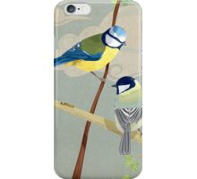 British birds. The blue tit and great tit iPhone Case/Skin