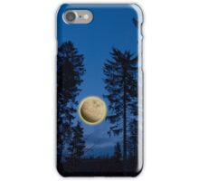 Yellow moon between the trees iPhone Case/Skin