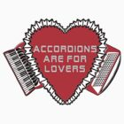 Accordions Are For Lovers 3 in bright red! by juliethebruce
