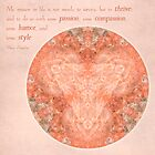 Thrive: Rose Quartz Mandala #1 by Gail Haile