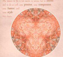 Thrive: Rose Quartz Mandala #1 by Gail S. Haile