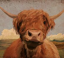 Highland cow by Carl Conway