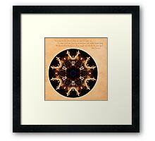 Spirit Rekindled: Ring of Fire Mandala Framed Print