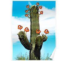 Cactus Valentine Painted Poster