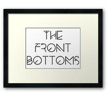 The Front Bottoms - Black Framed Print