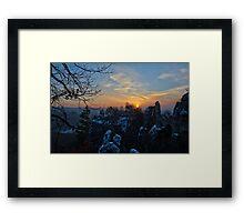 """""""Good Morning Rock Castle Rathen"""" Framed Print"""