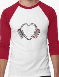 Accordion Heart Motif - International Version! Men's Baseball ¾ T-Shirt