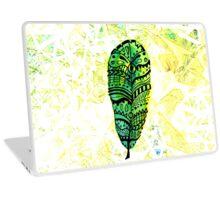 Gorgeous Yellow-Green Feather Laptop Skin
