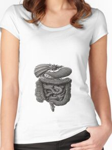 psychedelic intestines Women's Fitted Scoop T-Shirt