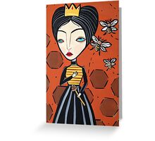 Queen Bee Greeting Card