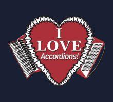 I Love Accordions Heart Motif! Kids Tee