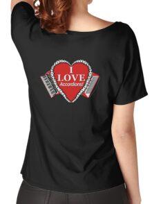 I Love Accordions Heart Motif! Women's Relaxed Fit T-Shirt