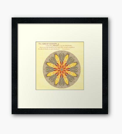Sacred in the Ordinary:  Beach Still Life Mandala Framed Print