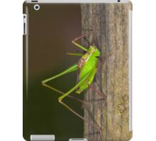 Green grasshopper up close and personal iPad Case/Skin