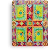 Colourful Cross Canvas Print
