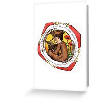 Wilfred Owen Nouveau Greeting Card