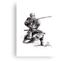 Samurai armor armour silver plated bushido sword katana yoroi bushi Canvas Print