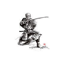 Samurai armor armour silver plated bushido sword katana yoroi bushi Photographic Print