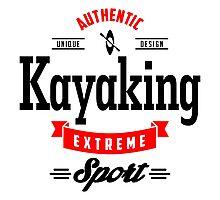 Kayaking Extreme Sport B&R Art Photographic Print