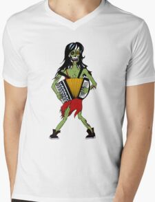 Undead Squeezebox Chanteuse! Mens V-Neck T-Shirt