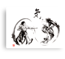 Aikido federation show double enso fight line circle martial arts japan  Canvas Print