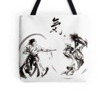 Aikido federation show double enso fight line circle martial arts japan  Tote Bag