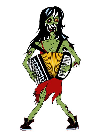 Undead Squeezebox Chanteuse! by juliethebruce