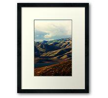 San Luis Reservoir Framed Print