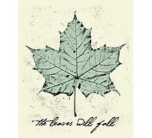 The Leaves Will Fall Photographic Print