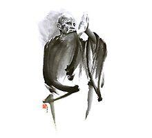 Morihei Ueshiba Sensei Aikido martial arts art japan japanese master sum-e portrait founder Photographic Print
