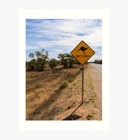 Beware Kangaroos. Art Print