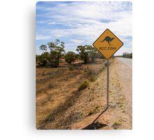 Beware Kangaroos. Metal Print