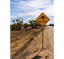 Beware Kangaroos. Photographic Print