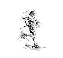 Run lovers running man painting sport athletic olimpic Photographic Print