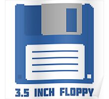 3.5 Inch Floppy Disk T Shirt Poster