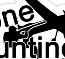 Drone hunting club reversed Sticker