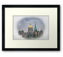 Des Moines Capitol Framed Print