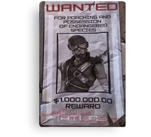 Mordecai Wanted Poster  Canvas Print