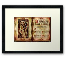 Madame Leota's Spell Book by Topher Adam Framed Print