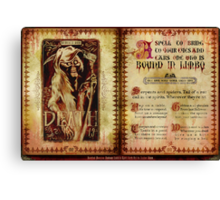 Madame Leota's Spell Book by Topher Adam Canvas Print