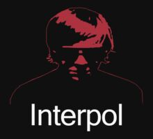 Paul Banks Interpol PDA Red with Type 2 T-Shirt by photoguycw