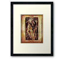 Madame Leota's Spell Book Page one by Topher Adam Framed Print