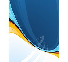 Techno Blue Abstract Pop Graphic Photographic Print