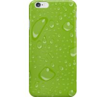Water Droplets Green iPhone Case/Skin