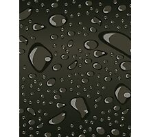 Water Droplets Black Photographic Print